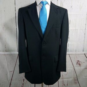Evan Picone 40L 2 Button Black Suit Blazer Sport C